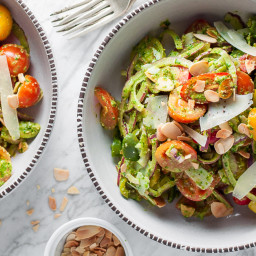 Spanish Tomato Salad with Almond Herb Dressing