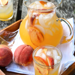 Sparkling Spiked Peach Lemonade
