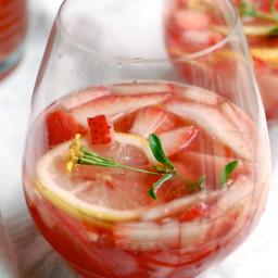 Sparkling Strawberry Rosé Sangria