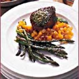 Sparks's Sautéed Filet Mignon with Yellow Tomato Vinaigrette