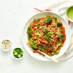 Speedy Teriyaki Veggie Noodle Bowl
