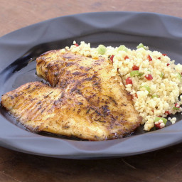 Spice-Rubbed Fish Fillets with Lemon Butter Sauce
