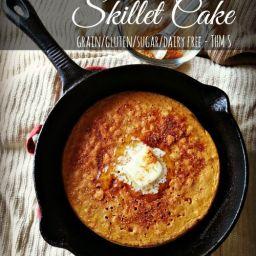 Spiced Coconut Flour Skillet Cake