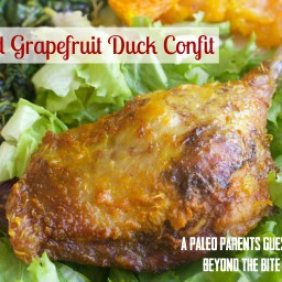 Spiced Grapefruit Duck Confit