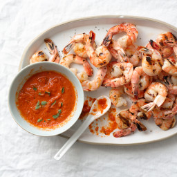 Spiced Grilled Shrimp with Smoky SpanishVinaigrette