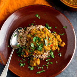 Spiced Lentil Dal With Quinoa