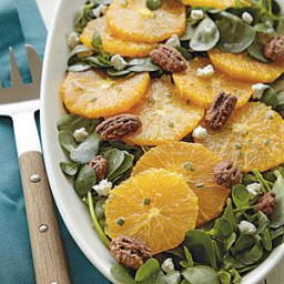 Spiced Orange Salad with Goat Cheese and Glazed Pecans