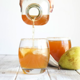 Spiced Pear Cocktail-The Almond Eater