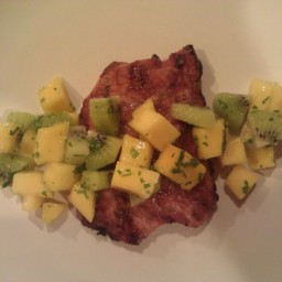 Spiced Pork Tenderloins with Mango/Kiwi Salsa
