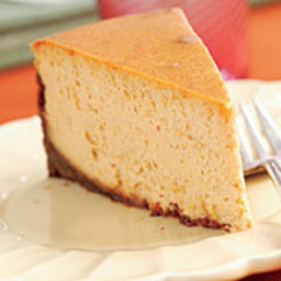 Spiced Pumpkin Cheesecake with a Gingersnap Crust