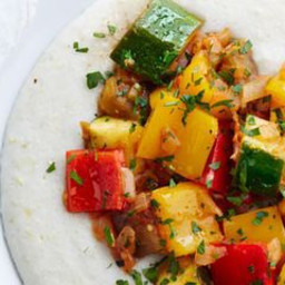 Spiced Ratatouille with Coconut Grits