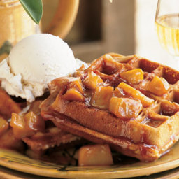 Spiced Waffles with Caramelized Apples