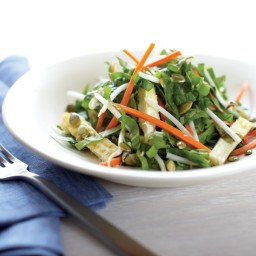 Spicy Asian Spinach Salad with Toasted Pumpkin Seeds