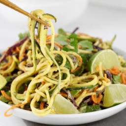 Spicy Asian Zucchini Noodles