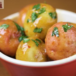 Spicy baby potatoes (Molli Mexico City sauce)