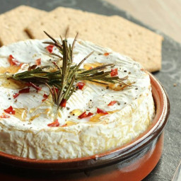 Spicy Baked Camembert