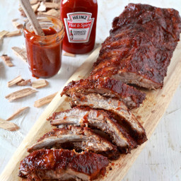 Spicy BBQ Oven Smoked Ribs