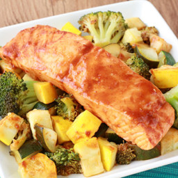 Spicy BBQ Salmon and Veggies