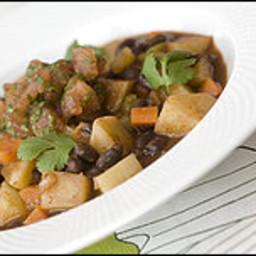Spicy Black Bean and Potato Stew With Tomato Salsa