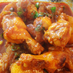 Spicy Braised Chicken (Dak-bokkeumtang)