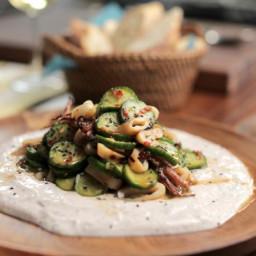 Spicy Calamari and Cucumber Salad with Spiced Yogurt Sauce