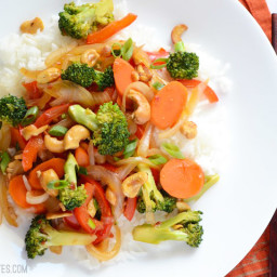 Spicy Cashew Crunch Stir Fry