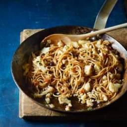 Spicy Cauliflower and Pancetta Spaghetti