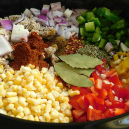 Spicy chicken chili