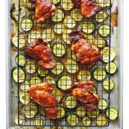 Spicy Chicken Thighs with Summer Squash