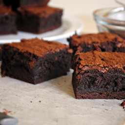 Spicy Chocolate-Cayenne Truffle Brownies