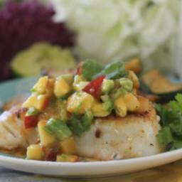 Spicy Cod with Peach Nectarine Salsa