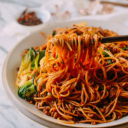 Spicy Crispy Pork Noodles