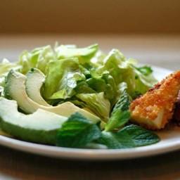 Spicy, Crispy Tofu with Mint and Avocado Salad
