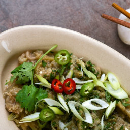 Spicy Eggplant Salad With Sesame Oil