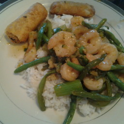 Spicy Green Shrimp Stir Fry