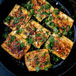 "Spicy Griddled Tofu ""Steaks"""