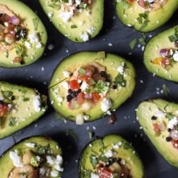 Spicy Hummus Avocado Boats