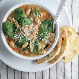 Spicy Italian White Bean and Sausage Soup