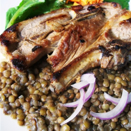 Spicy Lamb with Braised Lentils