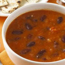 Spicy Mexican bean soup
