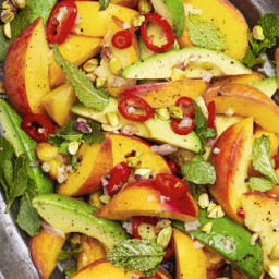 Spicy Peach and Avocado Salad