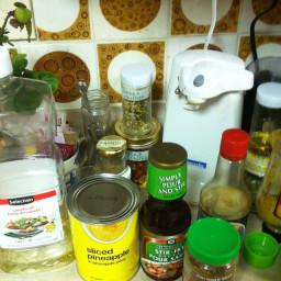 Spicy Pineapple, Kale &  Shrimp Stirfry