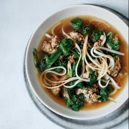 Spicy Pork and Mustard Green Soup