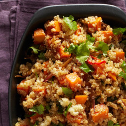 Spicy Quinoa with Sweet Potatoes