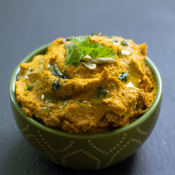 "Spicy Roasted Carrot ""Hummus"": Veggie Dip Recipe"