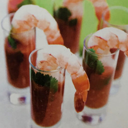 Spicy Sangria and Shrimp Shooter