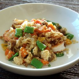 Spicy Sausage and Shrimp Couscous