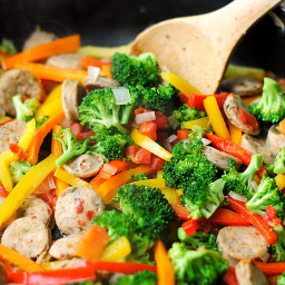 Spicy Sausage and Veggie Stir Fry