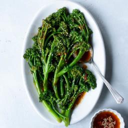 Spicy Sautéed Sesame Garlic Broccolini