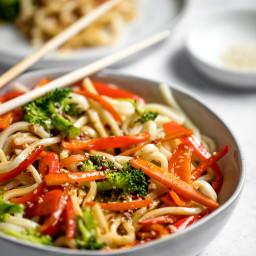 Spicy Sesame Udon Noodles